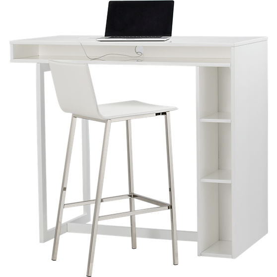 Kitchen Table Alternatives: The Condo Project: 12 Minimalist White Desks To Buy Or DIY
