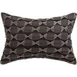 "pucker 18""x12"" pillow with down-alternative insert"