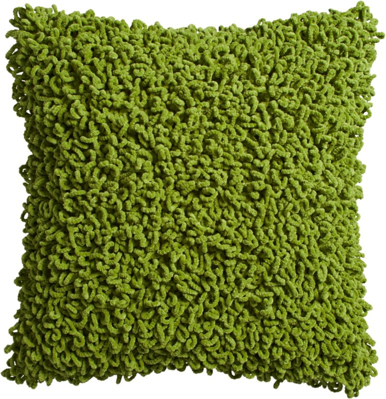 "que green 20"" pillow with down-alternative insert"