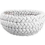 rapunzel low white basket
