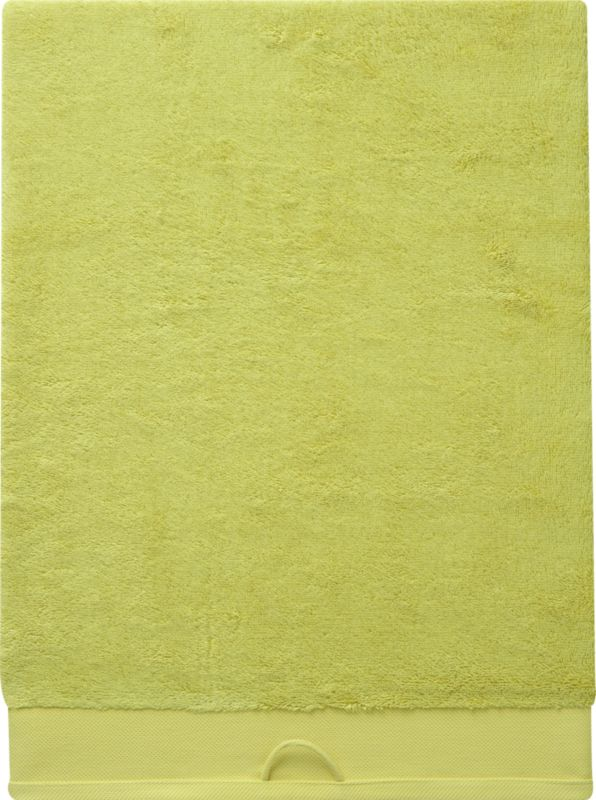 rayon bamboo chartreuse oversized bath towel