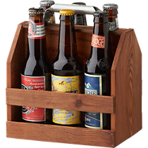 reclaimed wood 6-pack holder