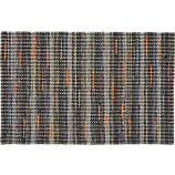 recycled cotton grey-orange rug 4'x6'