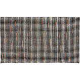 recycled cotton grey-orange rug 5'x8'