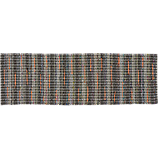 recycled cotton grey-orange runner 2.5'x8'