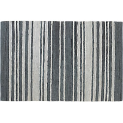 recycled leather stripe rug