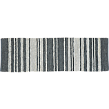 recycled leather stripe runner 2.5'x8'