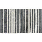 recycled leather stripe rug 5'x8'.
