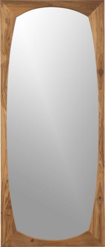 recycled teak mirror