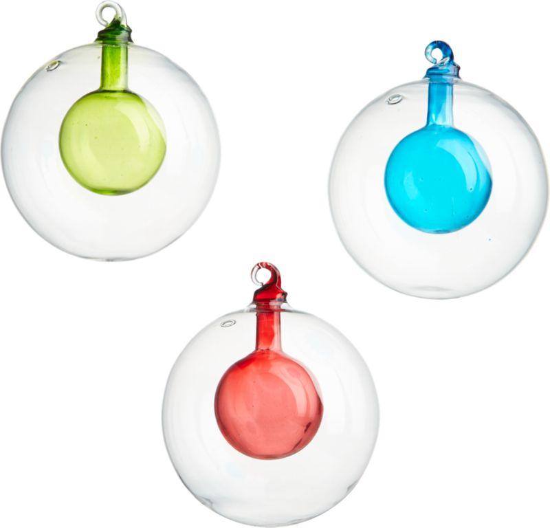 CB2 Modern Bulb Ornaments