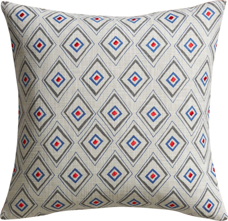 "redeye embroidered 18"" pillow with feather-down insert"