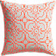 "revival embroidered 20"" pillow with down-alternative insert"