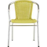 rex chartreuse arm chair