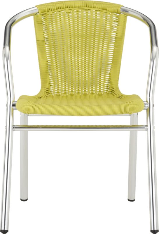 rex chartreuse arm chair