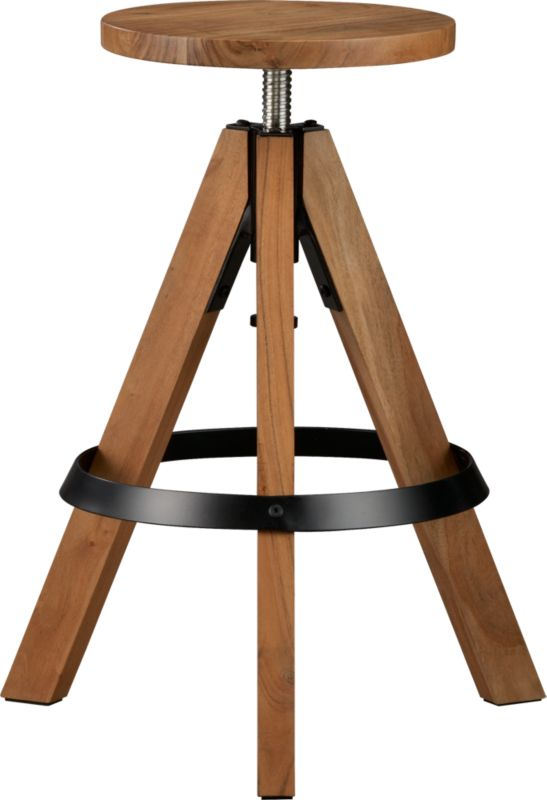rig acacia adjustable bar stool