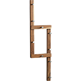 right angle coat rack