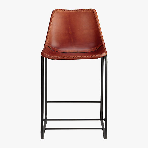 Roadhouse 24 Quot Leather Counter Stool