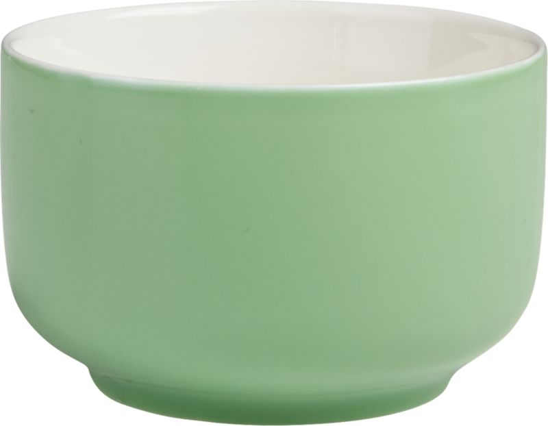 "<span class=""copyHeader"">candy coated.</span> Mini porcelain bowl glazed mint green is a sweet spot for candy, nuts, small bites. Fun as a trio with roundish mini bowl pink and salmon.<br /><br /><NEWTAG/><ul><li>Porcelain</li><li>Hi-gloss mint green glaze</li><li>Dishwasher- and microwave-safe</li></ul>"