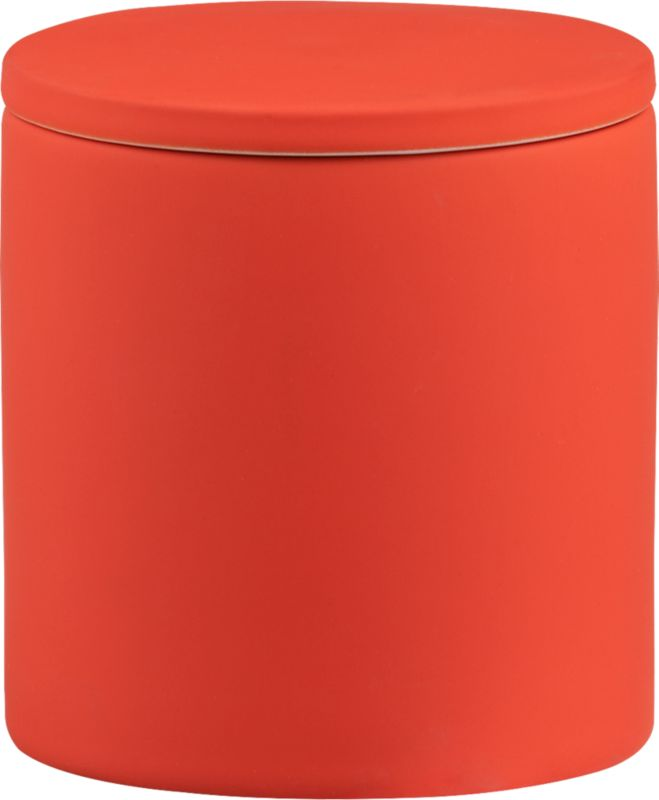 rubber coated orange canister
