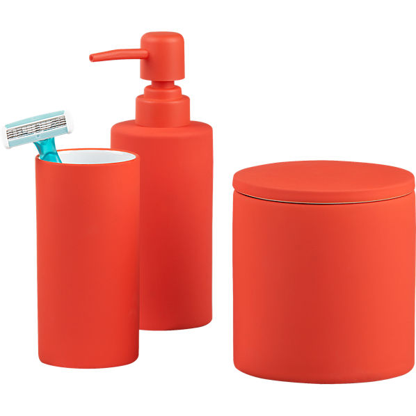 Cb2 page not found for Bathroom accessories orange
