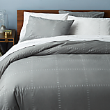 SAIC origin grid grey king duvet cover