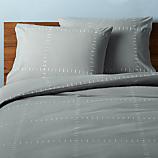 set of 2 SAIC origin grid grey standard pillowcases