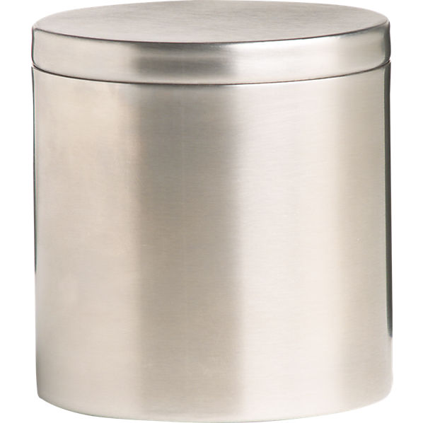 Stainless Steel Canister With Lid Cb2