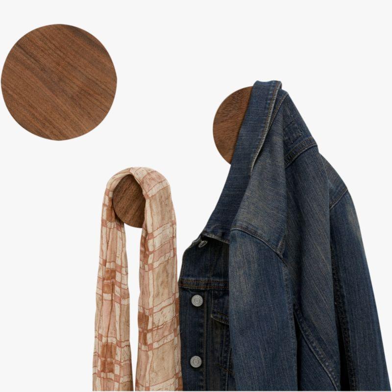 dot coat hooks set of three