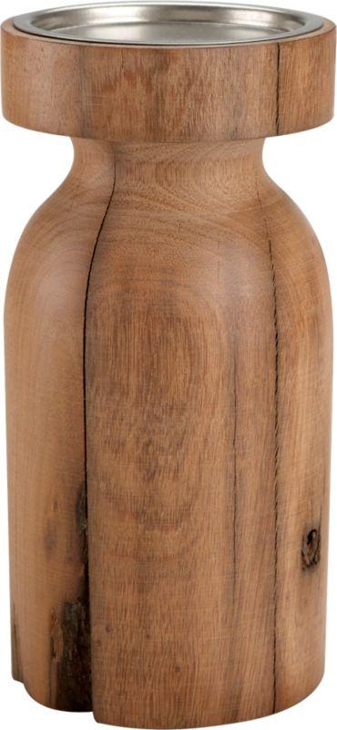 saal wood large candleholder