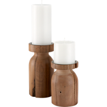 saal wood candleholders