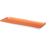 salmon enamel rectangular tray