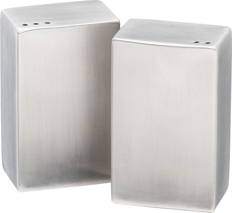 2-piece stainless steel salt and