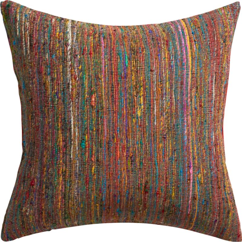 "sari 20"" pillow with feather-down insert"