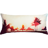 """seaside view 36""""x16"""" pillow with feather-down insert"""