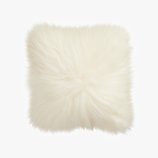 "icelandic sheepskin 16"" pillow with feather insert"