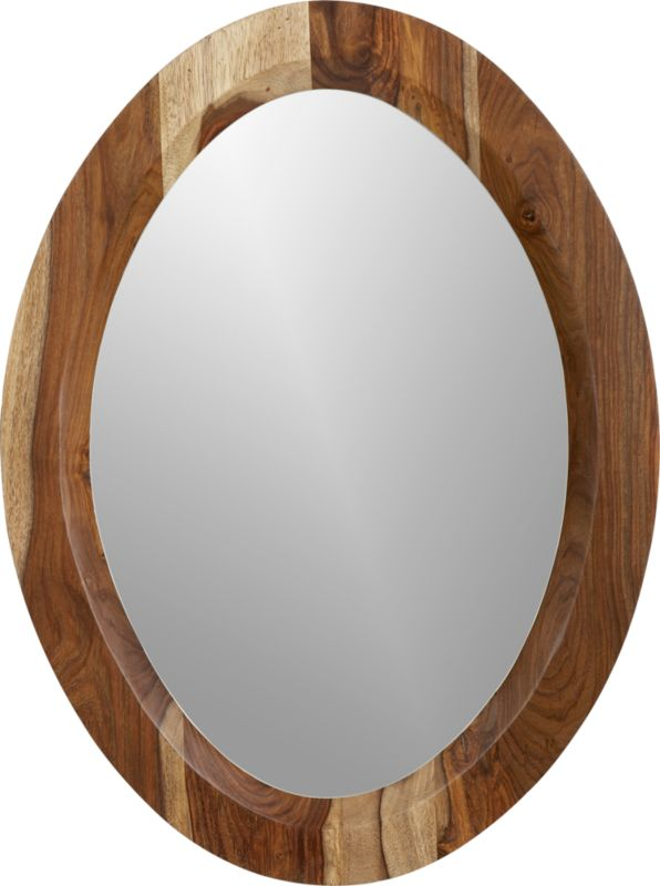 shesham oval mirror with white rim in mirrors | CB2