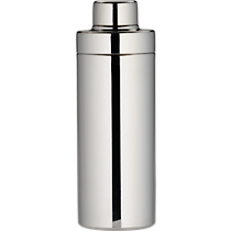 stainless steel shiny cocktail shaker