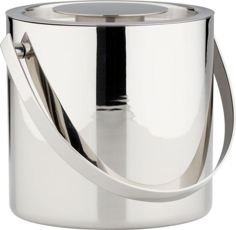 stainless steel shiny ice bucket