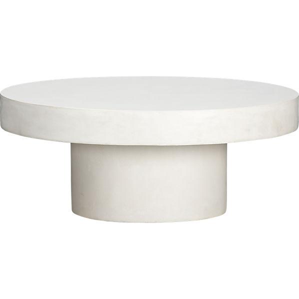 Shroom coffee table cb2 for Cb2 round coffee table