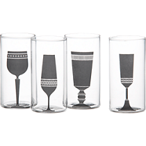 4-piece silhouette wine