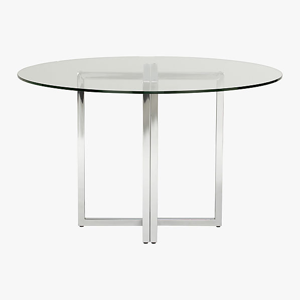 Silverado round dining table cb2 for Cb2 round coffee table