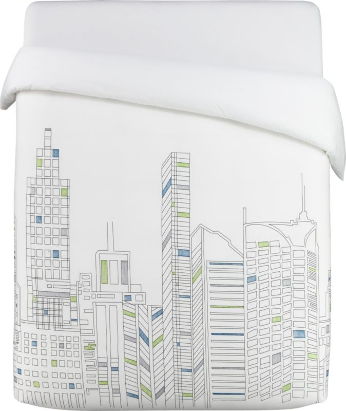 skyline king duvet cover