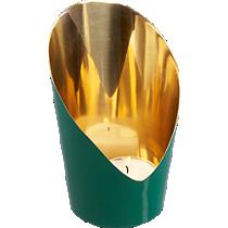 slice green candleholder