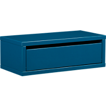 slice blue wall mounted storage shelf