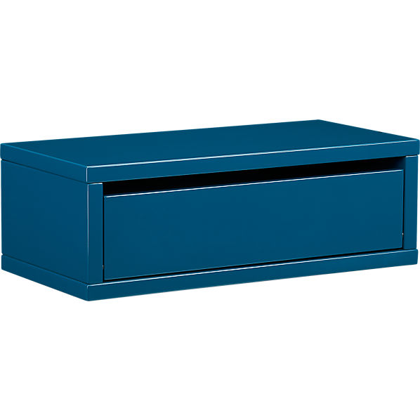 slice blue wall mounted storage shelf cb2. Black Bedroom Furniture Sets. Home Design Ideas