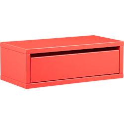 slice peach wall mounted storage shelf