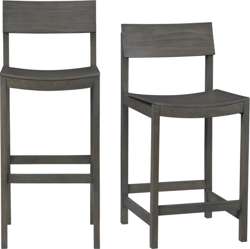 slide grey barstools