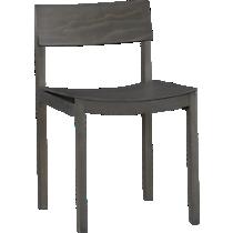 slide grey wood chair