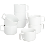 set of 8 of slip mugs