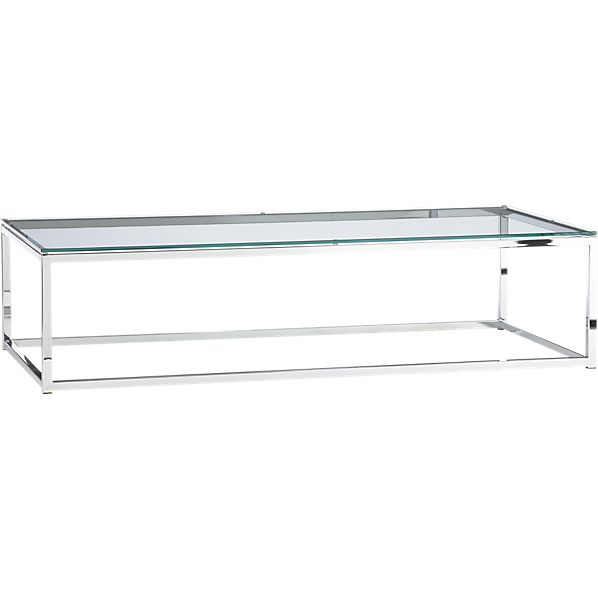 Smart Glass Top Console Table Cb2